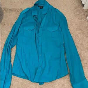 Teal Love Culture Blouse